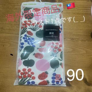 marimekko - 海外限定❁⃘ユニクロ x マリメッコ ★ ベビーレギンス 7分丈 花柄