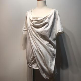 アルカリ(alcali)のalcali 変形デザイントップス アルカリ(カットソー(半袖/袖なし))