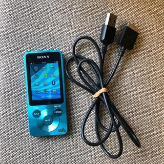 ウォークマン(WALKMAN)のSONY ウォークマン 本体+USB充電コード ソニー ブルー(ポータブルプレーヤー)