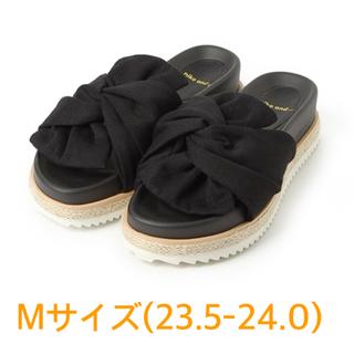 niko and... - ニコアンド オリジナルくしゅくしゅサンダル ブラック M 23.5-24.0
