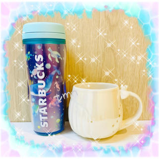Starbucks Coffee - タイムセール❗️スターバックス☆ボトルホログラムくじら&クジラマグカップ