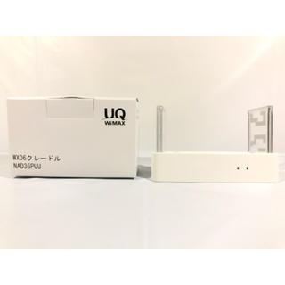 エーユー(au)のWX06 クレードル NAD36PUU Speed Wi-Fi NEXT(バッテリー/充電器)