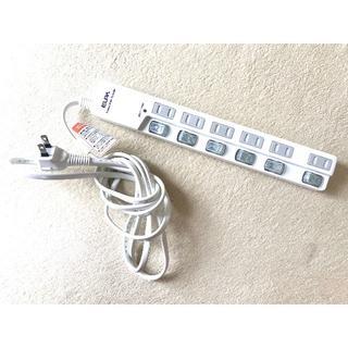 エルパ(ELPA)の☆ELPA 節電 スイッチ付 電源タップ 6口 ホワイト白 2m☆(その他)