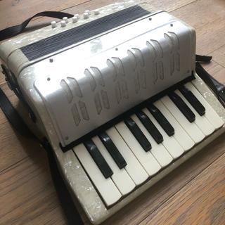 ミニ アコーディオン 楽器 玩具 ケース付(アコーディオン)
