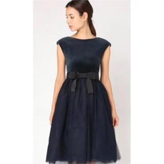 ティアラ(tiara)のベロア チュール ワンピースドレス(ひざ丈ワンピース)