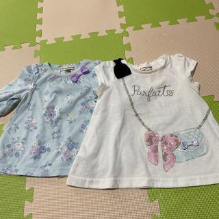 エニィファム(anyFAM)のanyFAM AラインTシャツ・5分袖シャツ2点セット(Tシャツ/カットソー)