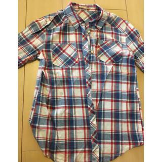 シマムラ(しまむら)の薄手チェックシャツ(シャツ/ブラウス(長袖/七分))