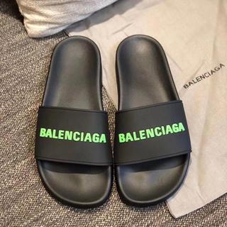 Balenciaga - バレンシアガ シャワーサンダル 26.5 41 黒×緑