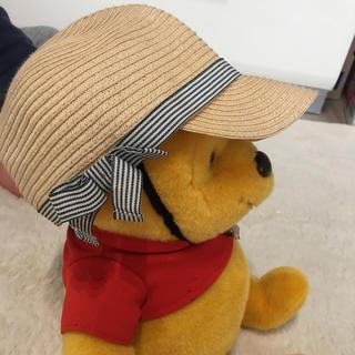 petit main - 女の子には最高‼️ベイビー麦わら帽子  サイズ 52㎝