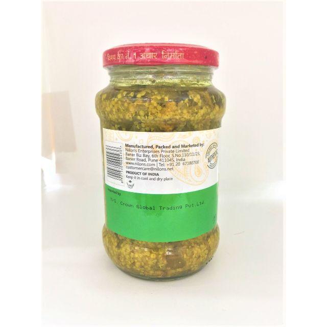 インドのピクルス (アチャール) - グリーンチリピクルス 【NILONs】 食品/飲料/酒の加工食品(漬物)の商品写真