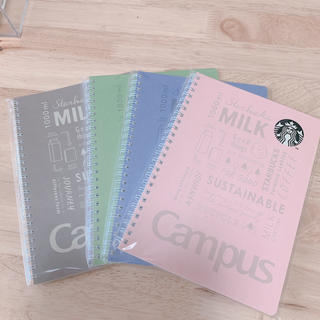 Starbucks Coffee - 限定スターバックス キャンパスリングノート 4冊組