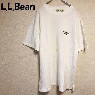 L.L.Bean - 【人気】L.L.Bean/エルエルビーン 刺繍ロゴ入り 半袖シャツ サイズL