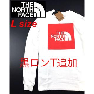 THE NORTH FACE - ノースフェイス ボックスロゴ Tシャツ ロンT 長袖  ロングTシャツ ホワイト