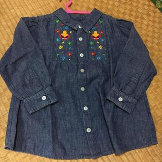 ヒステリックミニ(HYSTERIC MINI)のヒステリックミニ 刺繍デニムシャツ 100*(Tシャツ/カットソー)