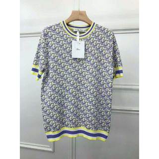 Dior - Dior  総柄 シルク混 半袖セーター