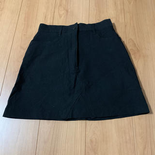 エモダ(EMODA)のEMODA パンツ付き台形ミニスカート ブラック(ミニスカート)
