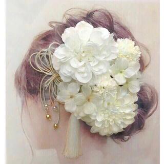 愛らしい髪かざり 袴 卒業式 結婚式 成人式 前撮りに はかまにかみかざり(ヘッドドレス/ドレス)
