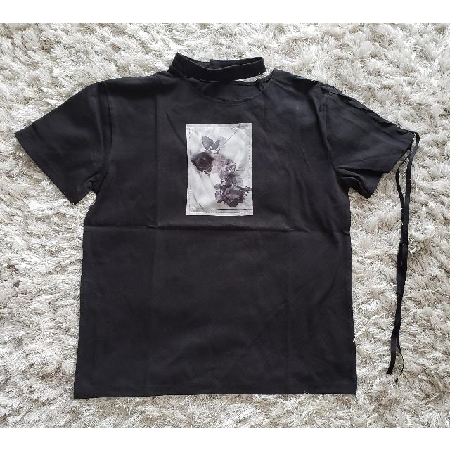 EATME(イートミー)の新品 EATMEシングルレースアップグラフィックTシャツ レディースのトップス(Tシャツ(半袖/袖なし))の商品写真