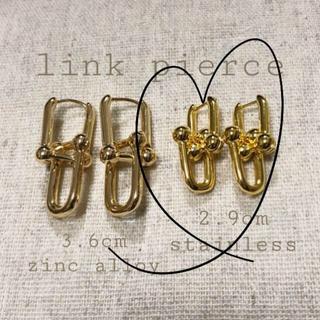 ESTNATION - j285.Tiffany mini link pierce(gold)
