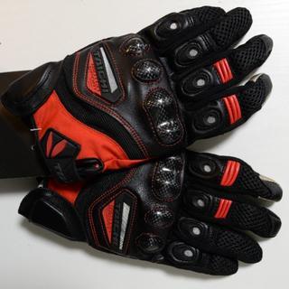 ・ RST418 RSタイチ メッシュ グローブ バイク 新品 黒 赤(装備/装具)
