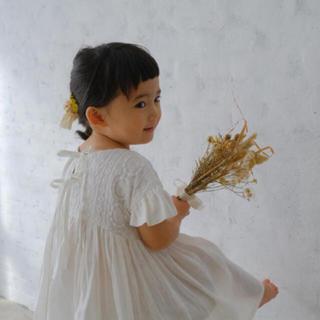Caramel baby&child  - june little closet 肩落ちフリルワンピース 新品未使用