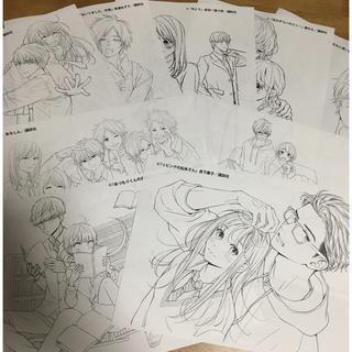 コウダンシャ(講談社)のぬりえ 9枚セット(少女漫画)
