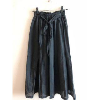 エヘカソポ(ehka sopo)の☆ehka sopo☆黒☆ウエストリボン☆ロングスカート☆(ロングスカート)