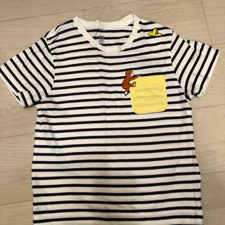 Design Tshirts Store graniph - おさるのジョージTシャツ 140 cm