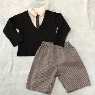 ニシマツヤ(西松屋)の重ね着風 セットアップ 90 ベビー フォーマル トップス パンツ(ドレス/フォーマル)