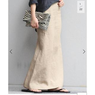 DEUXIEME CLASSE - リネンスリットスカート Linen slit スカート