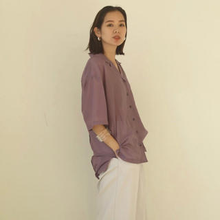 todayful トゥデイフル Silk Boyfriend Shirts F