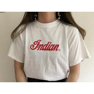 ロキエ(Lochie)のヴィンテージ 赤ロゴTシャツ(Tシャツ/カットソー(半袖/袖なし))