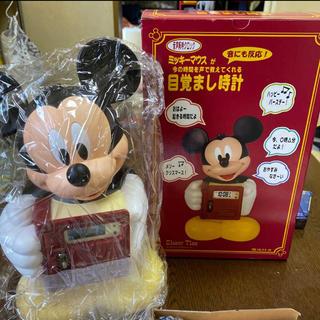 ディズニー(Disney)のミッキーマウス目覚まし時計 音声報時クロック(未使用)(置時計)