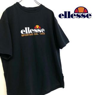 エレッセ(ellesse)の美品 古着 ellesse 刺繍デカロゴ Tシャツ(Tシャツ/カットソー(半袖/袖なし))