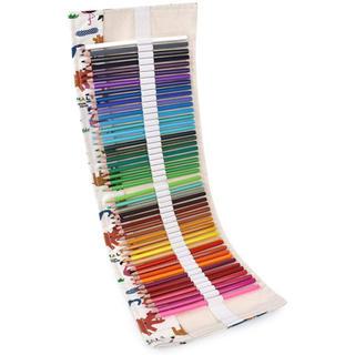 48色 色鉛筆 油性 塗り絵 描き用 収納ケース付き 動物園デザイン(色鉛筆)