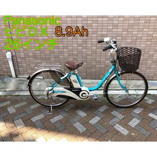 パナソニック(Panasonic)の美品 パナソニック ビビDX 26インチ 電動自転車 手渡し限定(自転車本体)