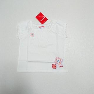 mikihouse - 90 女の子 白 半袖 ミキハウス 未使用