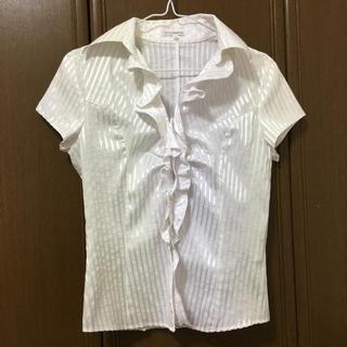 ナラカミーチェ(NARACAMICIE)のナラカミーチェ ブラウス ホワイト フリルシャツ テチチ ZARA H&M 好も(シャツ/ブラウス(半袖/袖なし))