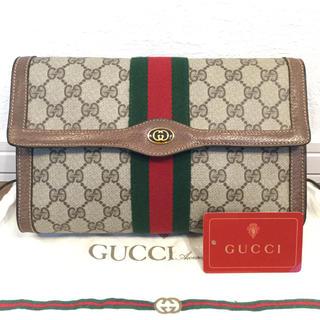 Gucci - 極美品♡希少紙タグ付き オールド GUCCIグッチ クラッチ セカンド バッグ
