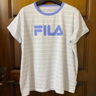 フィラ(FILA)のFILA  フィラ 半袖Tシャツ L☆ホワイト×ラベンダー☆レディース(その他)