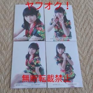 エイチケーティーフォーティーエイト(HKT48)の矢吹奈子 HKT48 アイズワン 2015年10月 トレーディング生写真 4枚(アイドルグッズ)