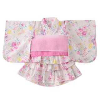 mezzo piano - 新品 メゾピアノ ストライプ花柄浴衣ドレス