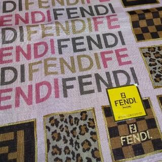 FENDI - 新品 FENDI② ハンカチ ズッカ柄 ヒョウ柄 うすいピンク系