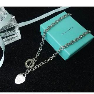 ティファニー(Tiffany & Co.)の美品!tiffany ティファニーネックレス 銀色(ネックレス)