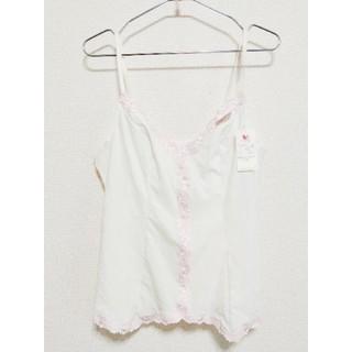Wacoal - WACOAL ワコール キャミソール ホワイトピンク 花柄