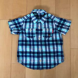 ダブルビー(DOUBLE.B)の【美品】ミキハウスダブルビー☆チェックシャツ(90)(ブラウス)