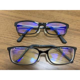 ゾフ(Zoff)のzoff JINS メガネ 黒縁 メンズ ブルーライト加工 傷防止加工(サングラス/メガネ)