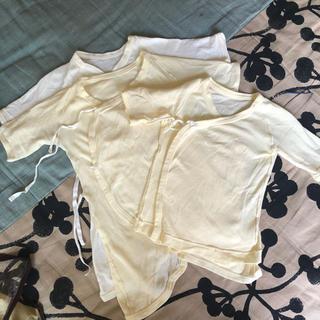ムジルシリョウヒン(MUJI (無印良品))の無印良品 オーガニックコットン 短肌着&コンビ肌着 50 60 新生児用(肌着/下着)