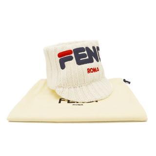 フェンディ(FENDI)のFENDI フェンディマニア ヘッドバンド ニットバイザー A2709(ニット帽/ビーニー)