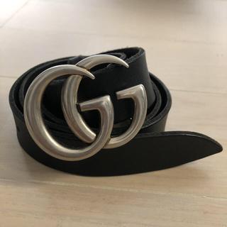 Gucci - GUCCIベルト ダブルGバックルレザーベルト
